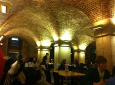 // LONDON. Cafe in the crypt of St. Martins-In-the-Fields church. Full English Breakfast: £7