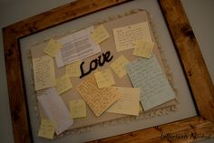 Love letter ideas for bedroom!