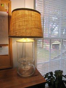 Burlap lampshade