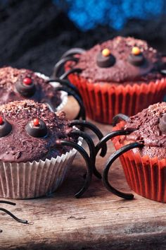 Spider Halloween Cupcakes Recipe