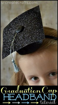 DIY Graduation Cap Headband tutorial ucreateparties.com