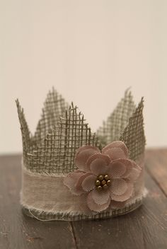 Sweet Sage Burlap Newborn Crown - Photography Prop