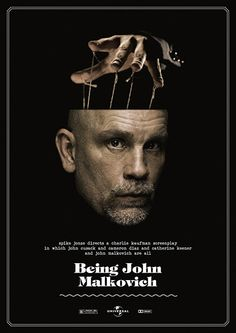 graphic design, criterion collect, being john malkovich, spikes, movi poster, films, film poster, poster designs, posters