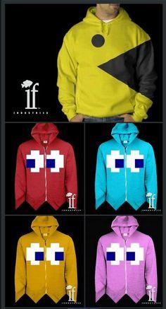 Pac Man hoodies