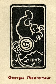 Exlibris of Georges Bonnamour