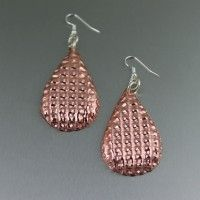 Double Corrugated Copper Tear Drop Earrings. Simply Stunning Copper Earrings!   http://www.johnsbrana.com/double-corrugated-copper-tear-drop-earrings.html  $65.00
