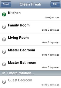 Clean Freak Cleaning Schedule App (My husband just found me this app. I think he may know me too well. I may be *slightly* OCD.)