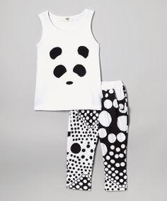 Panda Tank & Polka Dot Harem Pants