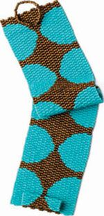 peyote stitch... love the colours and also the clasp design
