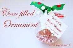 cocoa filled ornament