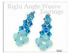 beading patterns, bead earrings, earring video, aunti bead, angl weav, auntie beads, weav earring, seed beads