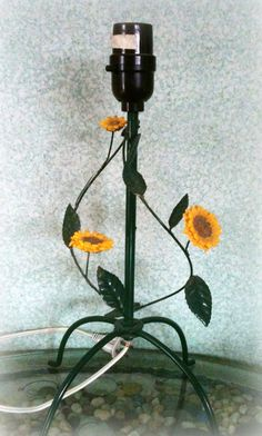 Sweet Sunflower Table Lamp by sixpencebluemoon on Etsy,