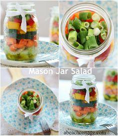 easy mason jar salad recipe #masonjars #masonjarcraftslove
