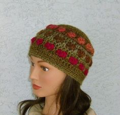 Chocolate Covered Hearts Beanie Girls Teens by CrochetHatsForYou,