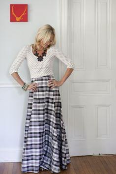 Plaid Ball Skirt-Devon Baer---