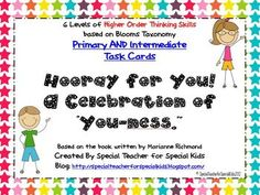 Hooray for You! A Celebration of You-ness Higher Order Thinking $