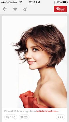 short cut, short hair, katie holmes, bob, shorts, hair style, hairstyl, haircut, kati holm
