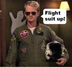 Barney Flight suiting up  #HIMYM