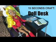 15 Seconds craft: Doll Desk - EPISODE 2