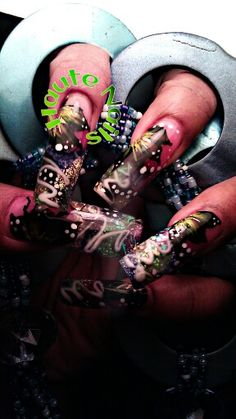 One-of-a-kind ....you won't see this again #butterfly #hand painted #nailart