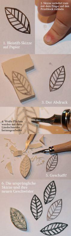 DIY: Stempel schnitzen; self made stamps
