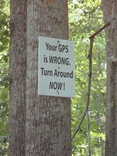 Where is this sign when you need it?