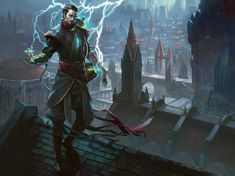 Ral Zarek of the Izzet League - Art by Volta Creation.