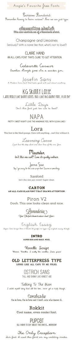 Cute, Free Fonts