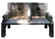 ANTIQUE CARVED WHITE MARBLE GARDEN BENCH - I have the perfect place for this.