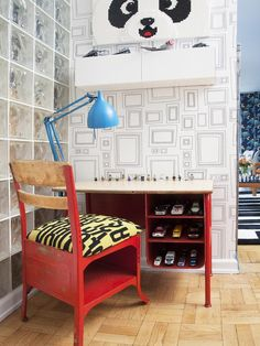 Eclectic Kids-rooms from Cortney and Robert Novogratz  on HGTV...love this desk!!!!!