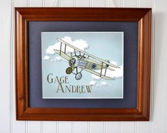 personalize airplane print