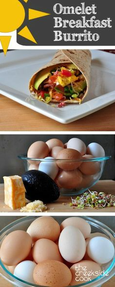 There's no better reason to get out of bed in the morning - Omelet Breakfast Burritos   The Creekside Cook  #breakfast #burritos #eggs #omelets