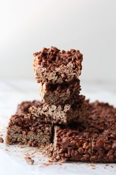 Peanut Butter Cup Brown Rice Crispies |Pidges Pantry #chocolate