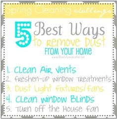 5 Ways to Remove Dust From Your Home - Ask Anna