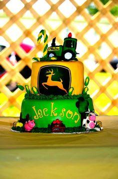 John Deer tractor cake, birthday cake