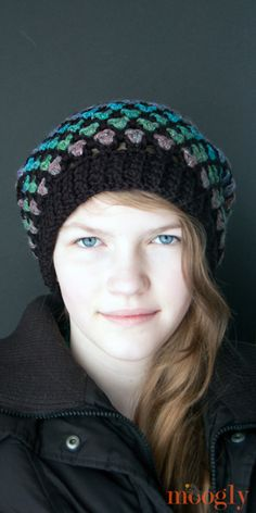 Moroccan Midnight Slouch Hat - free #crochet pattern on Moogly!