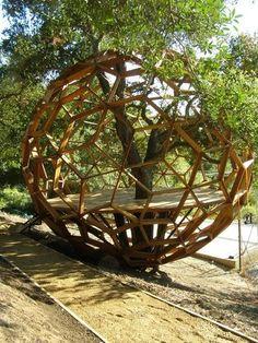 Geodesic tree house.