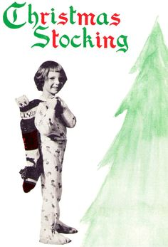 Vintage 50's Christmas Knit STOCKING  PDF by KinsieWoolShop, $3.20