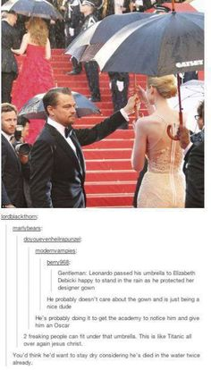 Poor Leo. Tumblrians are so funny.