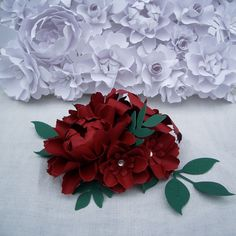 Handmade Paper Flowers - Winter Berries  - by DragonflyExpression