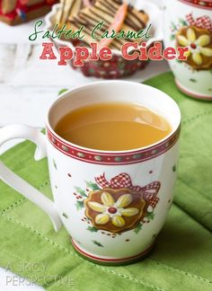 Salted Caramel Apple Cider #christmas #holiday #winter