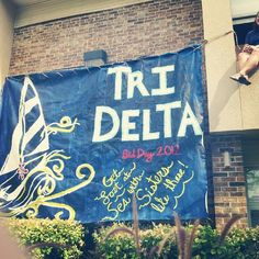 Great banner from Oklahoma State's nautical Bid Day!