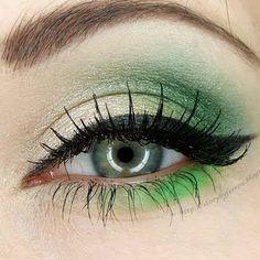 i heart this...green eyes green makeup :)