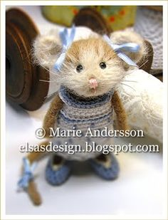 mice, craft, elsa virkblogg, fröken elsa, felt anim, small mous, frida albertina, mous frida, needl felt