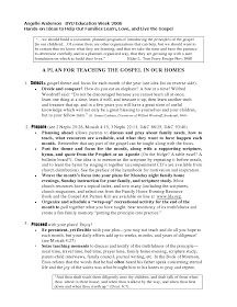 Creating a Christ-Centered Mormon Home - Pages From the Family Book of Scott and Angelle Anderson: Creating a Gospel-Centered Home handout (click to enlarge)