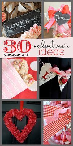 30 crafty Valentine's Day ideas {Little Birdie Secrets}