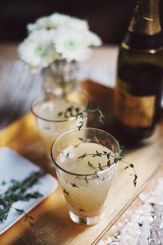 pear nectar & thyme mimosa | via: the glitter guide