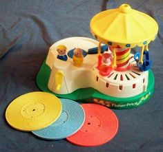 Fisher-Price Toy 170 Change-a-Tune Carousel with records plus LP on Etsy, $29.99