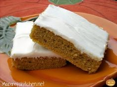 Mommy's Kitchen: Pumpkin Sheet Cake  The Food Channel