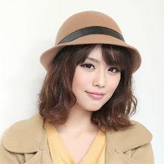 Women's High Quality Felt Cap 100% Wool Hat